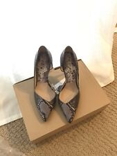 Zara Snake Skin Leather Court Shoes Size 6