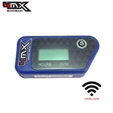 4MX Blue Wireless Motorcycle Engine Vibration Hour Meter to fit Suzuki GS750