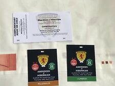 Scottish Youth Cup Final Aberdeen v Hibs 26th April 2018 3 Tickets Mixed !! Mint