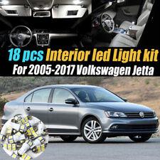 18Pc Super White Interior LED Light Bulb Kit Package for 2005-2017 VW Jetta