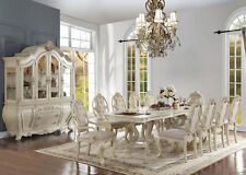 Old World Antique White 11 pieces Dining Room Set Rectangular Table Chairs IACZ