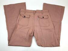 Vtg 70s LEVIS Bellbottoms Pants Dusty Rose Flap Pocket 32x33 USA White Tag Disco