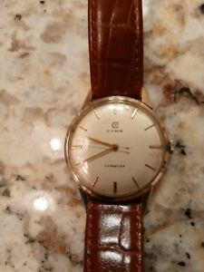Classic Cyma vintage solid 9k gold watch