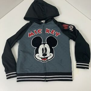 Mickey Mouse 90th Anniversary Boys Jacket Size 6 Disney Grey and Black