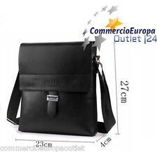 tracolla uomo polo in pelle borsello borsa man iPad iPhone colore nero marsupio