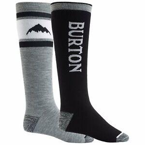 Burton Weekend 2-Pack Snowboard Socks - Men's - Large / True Black