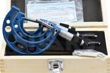 0 3 Micrometer Set 0001 Carbide Ground Standards 3 Piece Set Wooden Case M