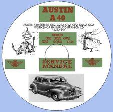 AUSTIN A40 SERIES GS2,G2S2,GV2,GP2,GQU2,GC2  WORKSHOP MANUAL 1947-1952
