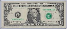 $1 SERIES 2003 PHILADELPHIA C/A BLOCK (DC) UNCIRCULATED P-2 LUCKY 8888 6915