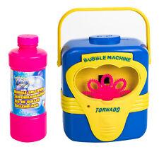 Seifenblasen Maschine Kinder + Sound extra 0,7 L Flüssigkeit Bubble Maker Party