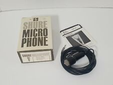 Vintage SHURE BROTHERS 560 Dynamic Lavalier Microphone Mic USA