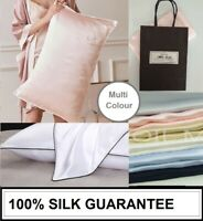 100% Mulberry Silk Pillow Case 25 Momme Slip Genuine Silk Pillowcase Multi-Color