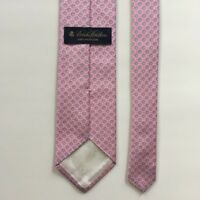 Brooks brothers tie  pink blue silver 100% silk made in USA necktie pa0953