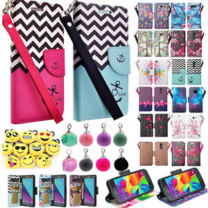 For ZTE Z MAX PRO, ZMAX Carry Z981 Grand X Max 2 Imperial Max Wallet Case Cover