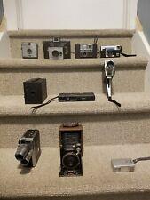 Lot of 10 vintage cameras Folding, box, Spy ,Video, more - full listing below