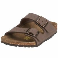 Birkenstock Womens ARIZONA Leather Open Toe Casual, Mocha Birkibuc, Size 45 N EU