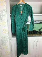 DANCING LEOPARD YONDAL DRESS - SMALL GREEN LEOPARD PRINT - SIZE 10 - BNWT