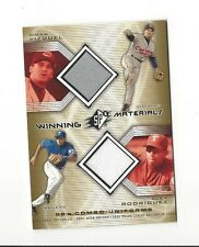 2002 SPX OMAR VIZQUEL ALEX RODRIGUEZ GAME-USED PANTS/JERSEY #WM-VR TEXAS RANGERS