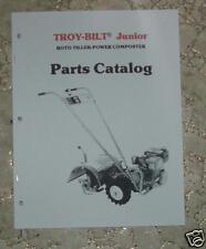 TROY-BILT JUNIOR TILLER AND 3.5 HP ENGINE PARTS CATALOG MANUAL