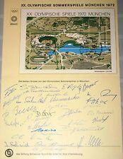 SWITZERLAND SCHWEIZ Olympics 1972 Munich Original Autographs Autogramme CH TEAM2
