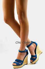 High Heel Platforms Wedges Summer Sandals Open Toe Strap Color NEW Women Shoes