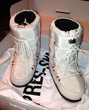 MONCLER White Women's Moon Quilted Winter Boots, sz 35-36-37  NIB
