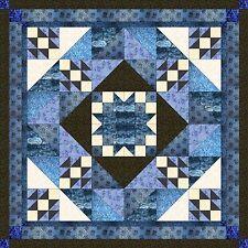 Quilt Kit/Diamond Medallion/Pre-cut fabric/Ready to Sew/Blue/Black/White***