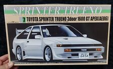 TOYOTA SPRINTER TRUENO AE 86 1600 GT APEX CUSTOM 1/24 FUJIMI MODEL KIT
