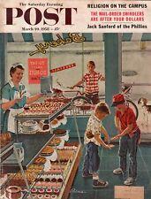 1958 Saturday Evening Post March 29 - Bakery donuts; Robert Ruark; Menlo Park CA