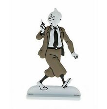 FIGURINE ARCHIVES TINTIN METAL DISH N&B ED LIMITED NO.41 TINTIN LECTURES IN BOX