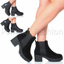 Women's Synthetic Pull on Block Mid Heel (1.5-3 in.) Boots