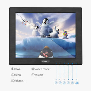 "Eyoyo 10"" Monitor TFT LCD HDMI/BNC/VGA/AV DC 12V Speakers for CCTV DVD 350cd/m²"