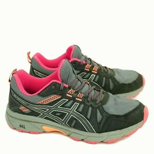Asics Gel Venture 7 Womens Trail Running Shoes Gray Pink Size 8 W