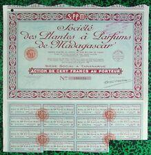 Madagascar - Antanimandry & Tananarive - Déco Secteur de la Parfumerie de 1934