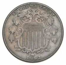 First US Nickel - 1883 - Shield Nickel - US Type Coin - Over 100 Years Old! *028