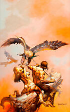 The Lavalite World by Boris Vallejo A1 High Quality Canvas Print