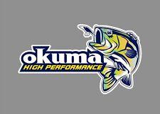 Okuma decals stickers bass boat tournament sponsor fishing rod reel