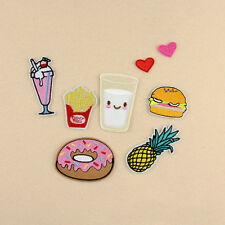 8Pcs Fruit Embroidery Sew Iron On Patch Badge Bag Fabric Cloth Applique Craft