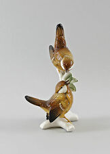 Porzellan Figur Vogel Zaunkönig-Gruppe Ens H18cm 9997561