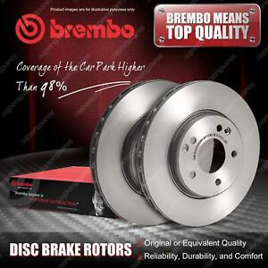 2x Rear Brembo Disc Brake Rotors for Nissan Pathfinder III R51 2.5 3.0 4.0 4WD
