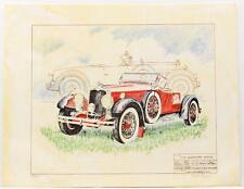 Vintage Print PAUL GEYGAN Legendary Stutz Transportation Lithograph SIGNED #18