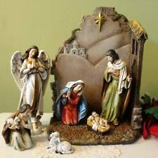 Nativity Set and Stable 8 in Scale Removable Pieces Gloria Angel 7 Piece Set