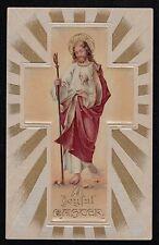 Antique Vintage Postcard A Joyful Easter Jesus 1912