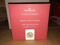Hallmark 2019 Majestic Lady Cardinal Limited Edition Metal Ornament 2019