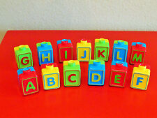 VTECH Alphabet ACTIVITY CUBE REPLACEMENT 13 PC Dual Side SET LETTER BLOCKS PARTS