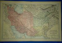 Vintage 1892 PERSIA - AFGHANISTAN - ( IRAN ) MAP Old Antique Original Atlas Map