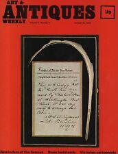 ART & ANTIQUES WEEKLY (28 October 1972) BRASS BEDSTEADS - VICTORIAN CARTOONISTS