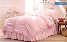 NEW Simply Shabby Chic Pink Ruched Comforter Set TWIN 2 piece NIP