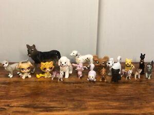 19 Cats & Dogs Assorted Lot Littlest Pet Shop Pets, Mattel, Barbie and More