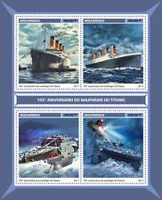 Mozambique 2017 MNH Titanic 105th Anniv 4v M/S Boats Ships Nautical Stamps